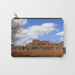 Taos Pueblo, Early Spring Carry-All Pouch
