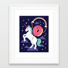 Magical Donut Ride Framed Art Print