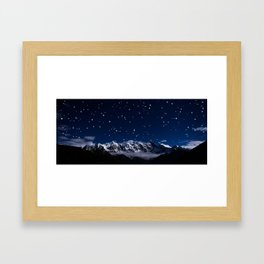 At the roof of the world Framed Art Print