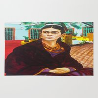frida kahlo Area & Throw Rugs featuring Frida Kahlo by Michael Diggs