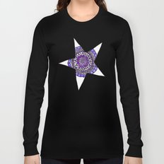 Blue/Purple Superstar Mandala Star Long Sleeve T-shirt
