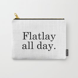 Flatlay All Day - White Carry-All Pouch