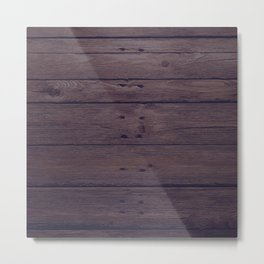 Rustic Distressed Wood Panel Boards Pattern Metal Print