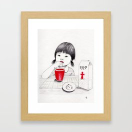 Royal milk Framed Art Print