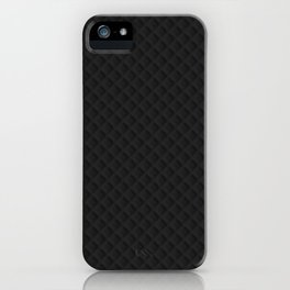 Sleek Black Stitched and Quilted Pattern iPhone Case
