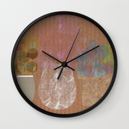Vases on Board Wall Clock