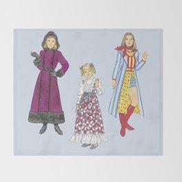 1970's Sisters Throw Blanket