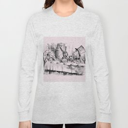 Blush pink - mad hatter's tea party Long Sleeve T-shirt