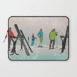 Skiers Summit Laptop Sleeve