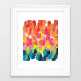 Neon Rainbow Framed Art Print