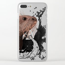 Cujo giant river otter Clear iPhone Case