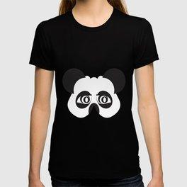 Panda party mask face T-shirt
