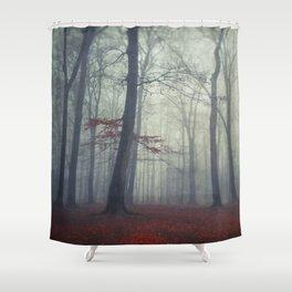 masked woodlands Shower Curtain