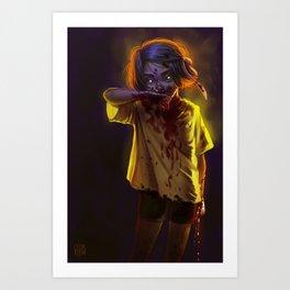 Vampire Girl (#Drawlloween2016 Series) Art Print