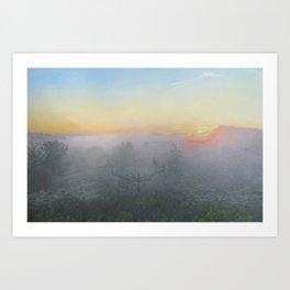 Montauk Morning_painting Art Print