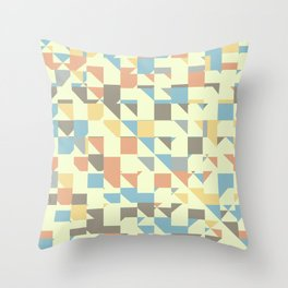 Triangles and rectangles Throw Pillow