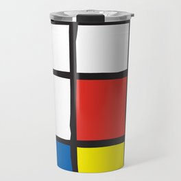 Mondrian Variation 2 Travel Mug