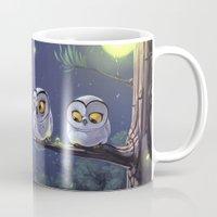owls Mugs featuring Owls by biboun