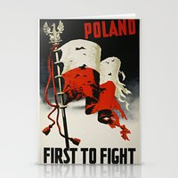poland Stationery Cards featuring Poland First To Fight by Plecinoga Photography