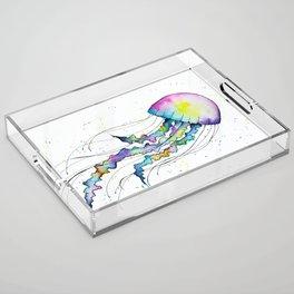 Pastel Jellyfish Acrylic Tray