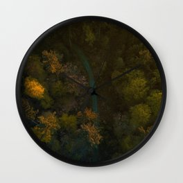 River in the Forest (Color) Wall Clock