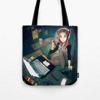 cyarin Tote Bags featuring Digital Artist by Cyarin