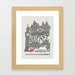Belfast Cityscape Framed Art Print
