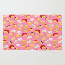 Cheese food pattern food fight apparel and gifts Rug
