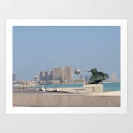 Katara, Doha, Qatar Art Print