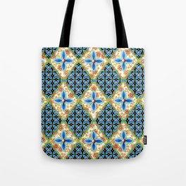 Elizabethan Folkloric Blossoms Tote Bag