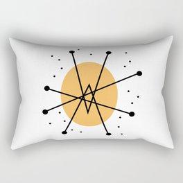 Retro Atomic Age Nuclear Motif — Mid Century Modern Rectangular Pillow