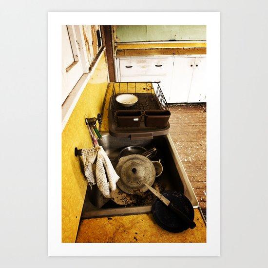 Dirty Dishes Art Print