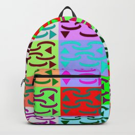 Patternless-squares-pattern Backpack