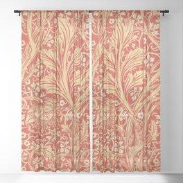 12,000pixel-500dpi - William Morris - Arcadia - Digital Remastered Edition Sheer Curtain