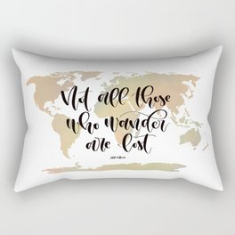 Not all those who wander are lost (blush/green) Rectangular Pillow