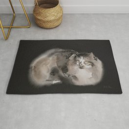 Long fur cat Rug