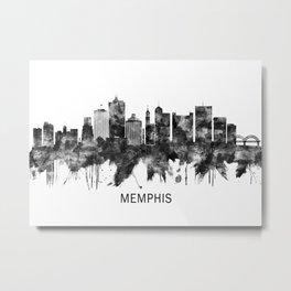 Memphis Tennessee Skyline BW Metal Print