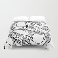 passion Duvet Covers featuring Passion by Jasmine Smith
