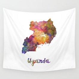 Uganda in watercolor Wall Tapestry