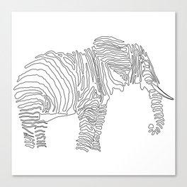 The Walking Elephant Canvas Print