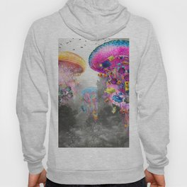 Electric Jellyfish in a Misty Mountain Hoody