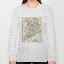 Vintage Map of Maine (1893) Long Sleeve T-shirt