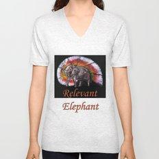Relevant Elephant Unisex V-Neck