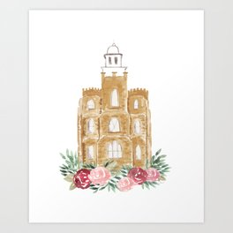 Logan Utah Temple Art Print