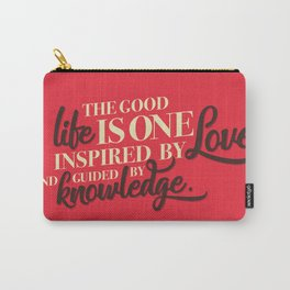 Life, love, knowledge. Red. Carry-All Pouch