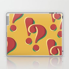 ! & ? (doubts and emotions) Laptop & iPad Skin