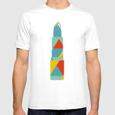 Lipstick Hues Mens Fitted Tee SMALL White