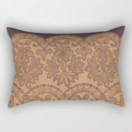 lace border stretched tonal Rectangular Pillow