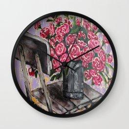 """Still Life """"Roses"""" Wall Clock"""
