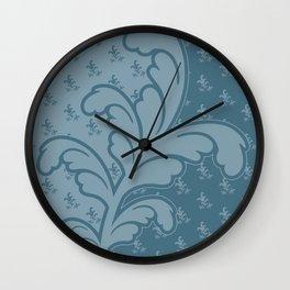 Ferny - Teal Wall Clock